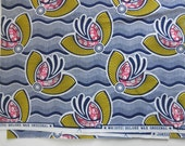 African wax block  hand printed  artisan cotton fabric, SALE today