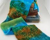 Sparkle single knit sock blank- Seagate