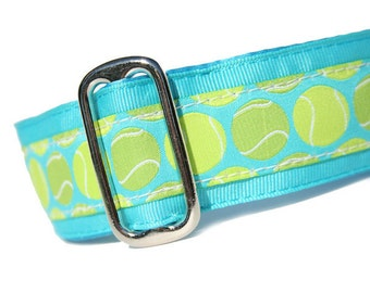 """1.5"""" Dog Collar Fetching Blue - Choose Your Collar Style!"""
