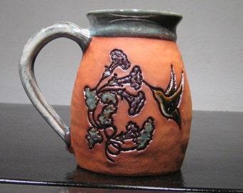 Hummingbird and Fuchsia  Mug .......     e894