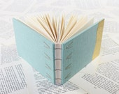 Small Light Turquoise Hardcover Notebook with Gold Leaf Decoration