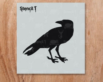 "Raven Stencil- Reusable Craft & DIY Stencil- S1_01_BS01_S6 -Small-(5.75""x6"")- By Stencil1"
