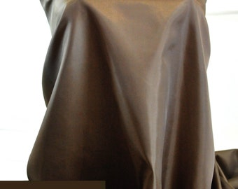Poly Lining fabric 58 inches wide.. Woodhue brown .. used for lining  jackets, skirts, dresses. vests, soft, light weight