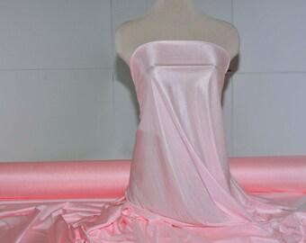 "Nylon Tricot stretch fabric 40 denier. Sweetheart pink . . lingerie, slips, panties, wedding, decor, bridal, crafts 108"" wide 100% nylon"