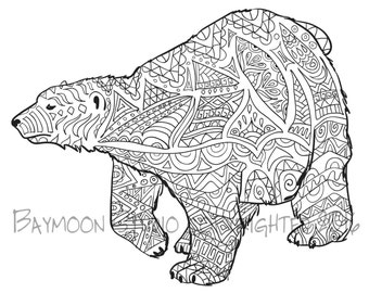 Bear coloring pages | Etsy