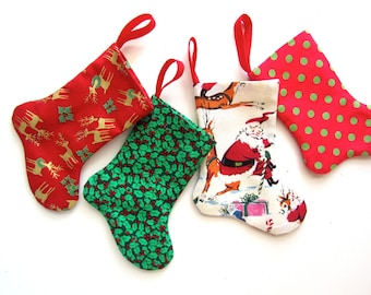 Choose-Your-Fabric Gift Card Holder Micro Stocking, Mini Stocking