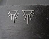 Sunburst Sterling Silver Sunshine Sun Rays Earrings Silver Jewellery Handmade Jewellery Symbolic Earrings Sun Symbol Tarot Jewelry