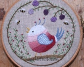 Let Your Heart Sing Crewel Embroidery Kit and Pattern