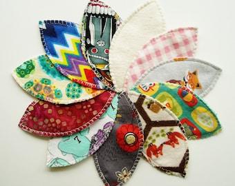 Set/3 Lg Interlabial Pads Lg Size Assorted Colours, Cloth Menstrual Pads, Reusable Inter Labial Menstrual Pad ILP Bamboo Hemp Cotton Flannel