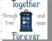 Doctor Who Cross Stitch Kit - Together Forever TARDIS