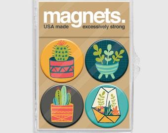 Magnet Set - Cacti Succulent - 4 pack