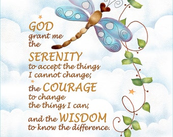 "10"" X 12"" Fabric Art Panel - Serenity Prayer"