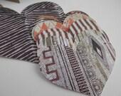 Valentine Hearts Animal Print, Rustic Prints, Browns, Greens