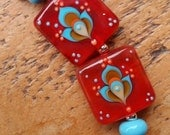 Karma mini set of lampwork beads by Pixie Willow DesIgns