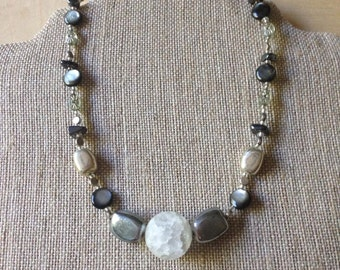 Full Moon Beaded Necklace