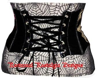 vampire noir corset boned Gothic waist cincher goth free shipping