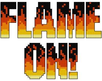 Flame On Cross Stitch Pattern