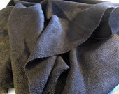 "Handwoven Cotton Tencel ""Black Cascade"" Fabric -- woven by seller, in the USA"