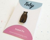 Toby the Bear, Enamel Pin