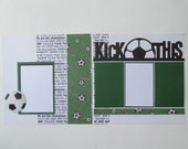 Soccer Premade or DIY Kit,12x12 Scrapbook Layout, Scrapbook Page Kit, Project Life, Filofax