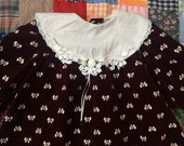 Burgundy Bow Dress 3T