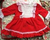 Red Velvet Dress 9-12 Months