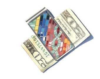 MONEY CLIP- Moneyclip, Best Graduation Gift, Money Clips for Men, Gift for Brother, Co Worker Gift, Gift for Dad, NYC Subway Art