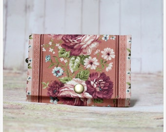 Pink And Flower - Coin Purse/Credit Card/ Zipper Pouch