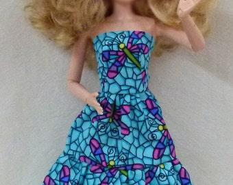 "11.5"" fashion doll clothes - dragonfly dress"
