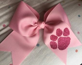Special Order for Jessica Monogrammed Cheer Bow - Large M2M with 3 Inch Ribbon personalized Cheer Bow Breast Cancer Awareness Cheer Bow