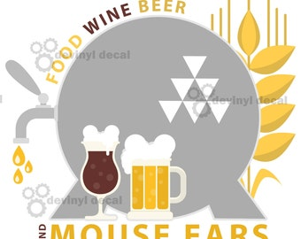 Food Wine and Beer Mouse Ears T-Shirt