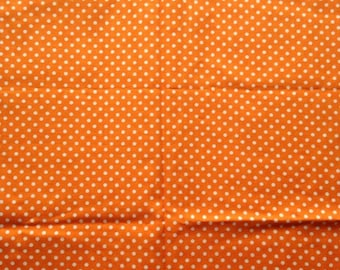 Cotton orange with white dot fabric 1 yard