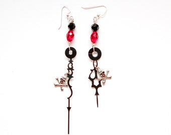 Steampunk Pirate Clock Hand Earrings