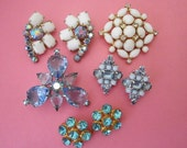 Jewelry DeStash Vintage Rhinestone Brooches and Clip Earrings