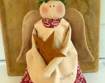 Primitive Christmas Angel doll