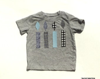 Boys//Baby Boy... Birthday Candle....Fabric Iron On Appliques...Many Quantities Available