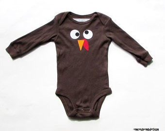 Thanksgiving Turkey Face & Feathers ... Fabric Iron On Appliques Kit ...Two Design Options Available