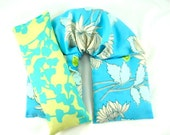 Relaxation Therapy Pack- Aches/Pain-Hot/Cold Therapy Organic,Relaxation- Herbal Heating Pad Blue Floral Flowers Gift For Her