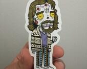 Dude Lebowski Calavera Die Cut Vinyl Sticker