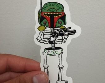 Boba Calavera Die Cut Vinyl Sticker
