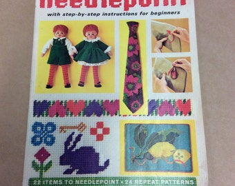VINTAGE McCall's Needlepoint with Step-by-Step Instructions for Beginners