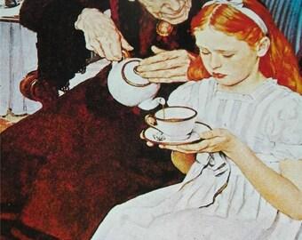 Vintage Norman Rockwell The Handkerchiefs Print 12412