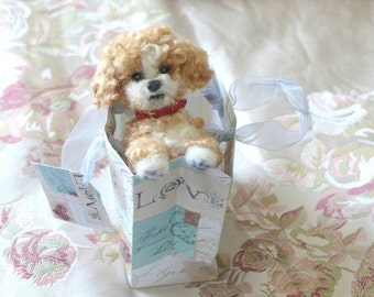 Needle Felted Dog Gourmet Felted Personalized gift for pet lovers /Custom Pet Portrait / Artist Original / miniature Poodle