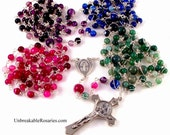 Custom Order For Melissa | 20 Decade Miraculous Medal Rosary w St Benedict Crucifix by Unbreakable Rosaries