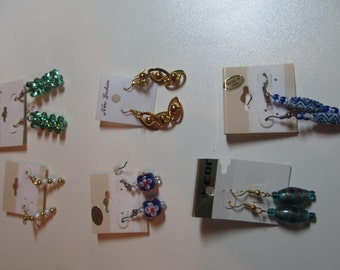 SALE    Six Pair of Handmade Earrings All for One Low Price