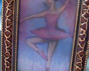 original drawing ballet dancer framed
