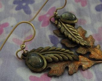 Falling Leaves Dangle Pierced Earrings