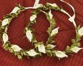 Greek Stefana, Greek Wedding Crowns, Calla Lily Stefana, Orthodox Wedding Crowns, Grecian Crowns, Ivory Flower Stefana, Traditional Wedding