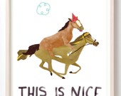 Fine Art, Art Print, Animals, Horse, Quirky, Poster, This is Nice- Fine Art Print