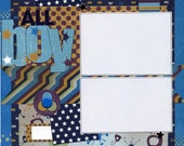 All Boy - Premade Scrapbook Page